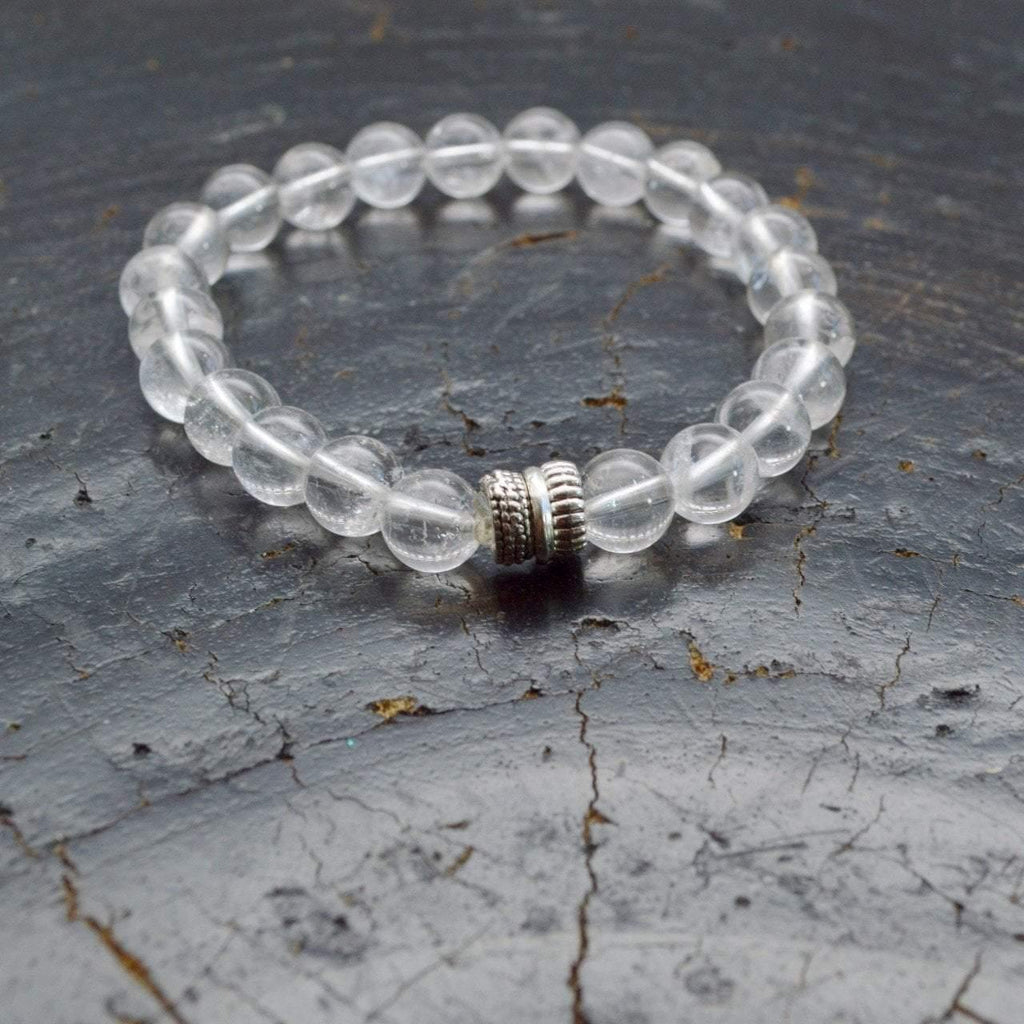 Power, Energy and Clarity | Beaded Stretch Bracelet | Clear Quartz Gemstone - Alora Boutique - Jewelry with meaning that gives back fashion for good