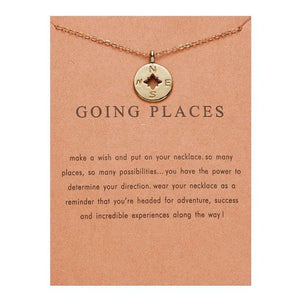 Meaningful Jewelry Gifts - Compass ' Going Places' Necklace Necklace Alora Boutique