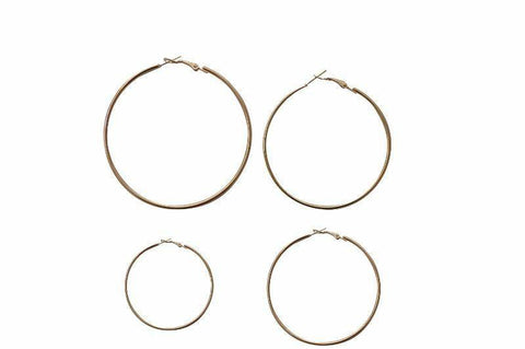 Coterie Midi Simple Hoop Earring