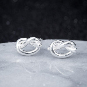 Knot Stud Earrings Earrings Alora Boutique Silver