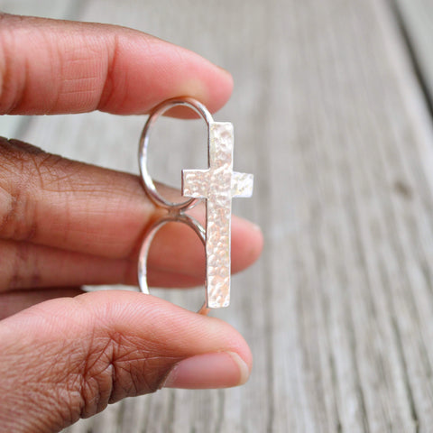 The Journey | Double Cross Ring | Sterling Silver - Alora Boutique