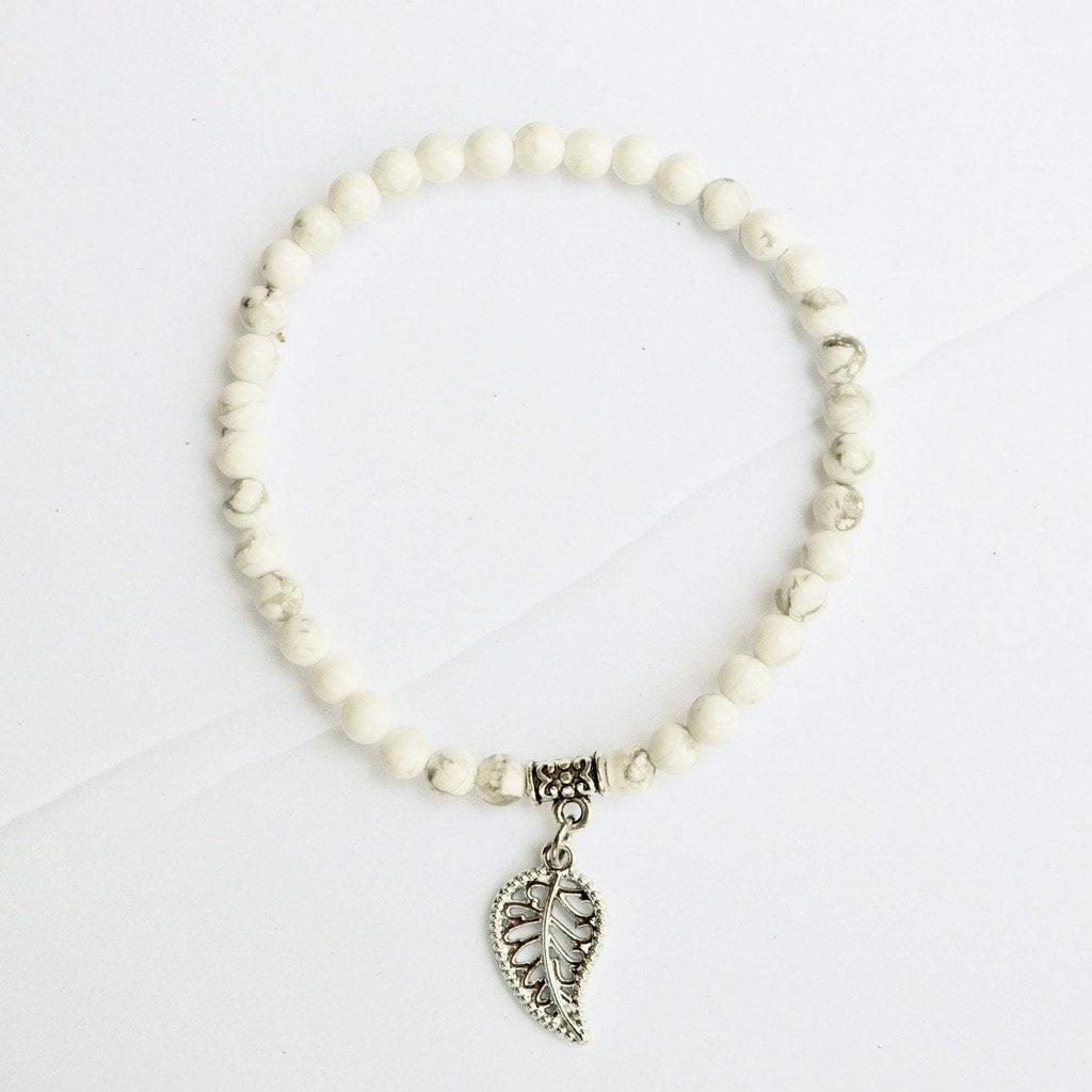 Clarity, Forgiveness and Relaxation | Delicate Beaded Stretch Bracelet | Howlite Gemstone - Alora Boutique - Jewelry with meaning that gives back fashion for good
