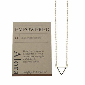 Delicate Triangle Necklace Meaningful Gift Necklace Alora Boutique