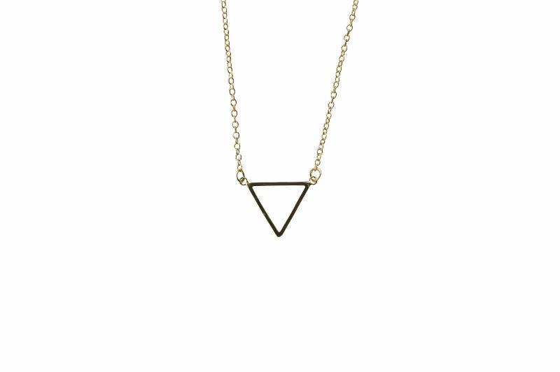 Delicate Triangle Necklace Meaningful Gift - Alora Boutique - Jewelry with meaning that gives back fashion for good