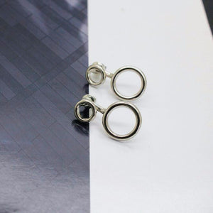 Chailyn Double Stud Circle Earrings