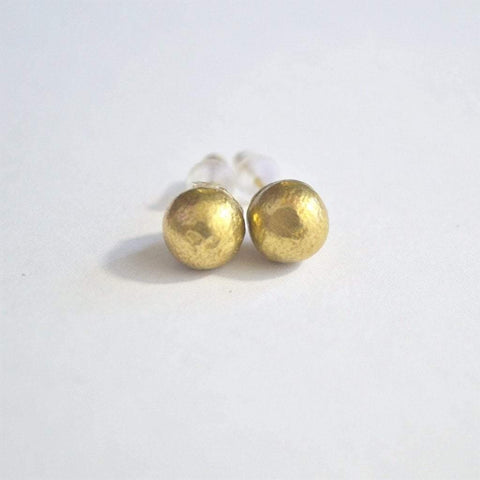 It's the Little Things Recycled Brass Stud Earrings - Alora Boutique  - 1