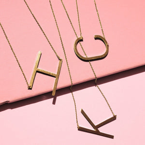 Monogram Collection Initial Necklace Jewelry & Accessories - Necklaces & Pendants Alora Boutique