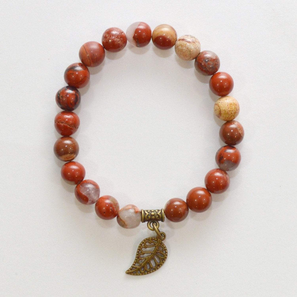 Appreciation, Empowerment, Understanding | Beaded Stretch Bracelet | Red Jasper Gemstone - Alora Boutique - Jewelry with meaning that gives back fashion for good