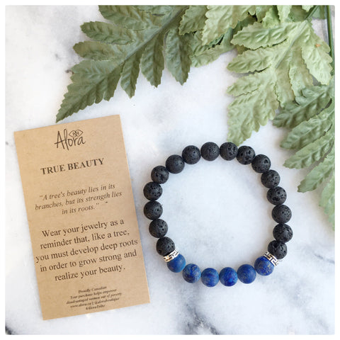Elisha - True Beauty Lapis Gemstone Bracelet