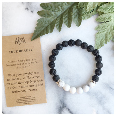 Elisha - True Beauty Howlite Gemstone Bracelet