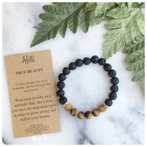 Elisha - True Beauty Tiger's Eye Gemstone Bracelet Bracelets Alora Boutique