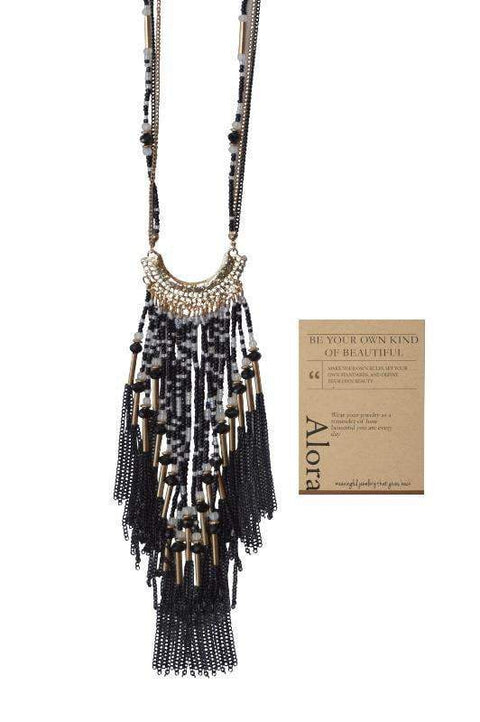 Evaleen Beaded Necklace - Alora Boutique - Jewelry with meaning that gives back fashion for good