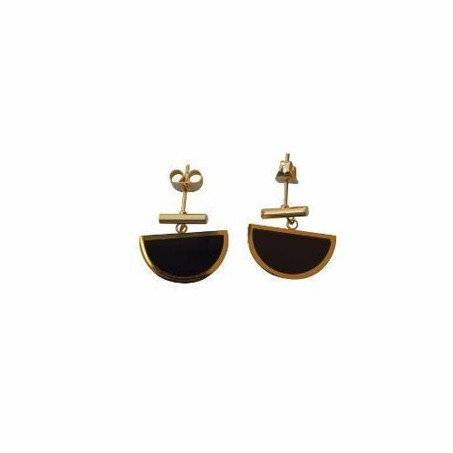 Oriella Geometric Stud Earrings - Black - Alora Boutique - Jewelry with meaning that gives back fashion for good