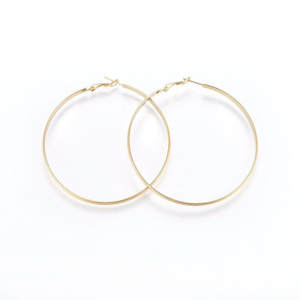 Blair | Flat Round Hoop Earrings