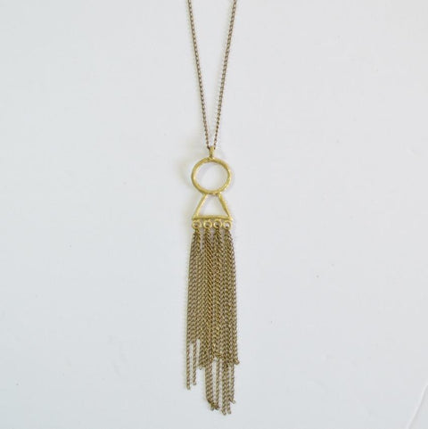 Amani Fringe Necklace | Sustainable Fashion Jewelry - Alora Boutique  - 1