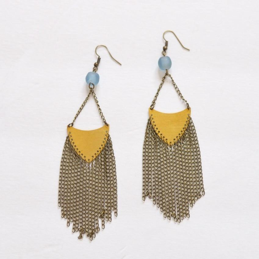 Fringe Earrings | Statement - Your Shine is One Of a Kind - Alora Boutique  - 1