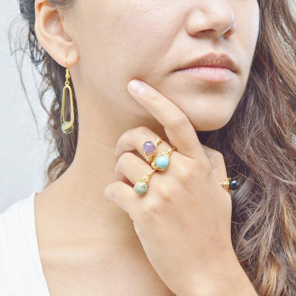 Awareness, Honesty and Inspiration | Gemstone Ring | Gold and Silver | Amethyst Gemstone Rings Alora Boutique