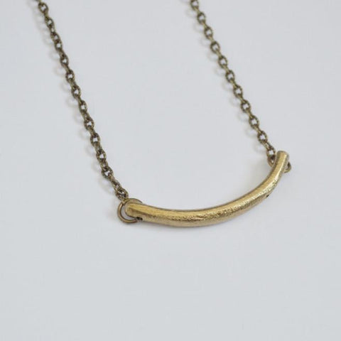 Balance Crescent Necklace - Recycled Brass - Alora Boutique  - 1