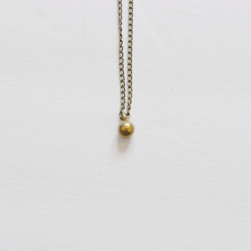 Circle of life delicate sphere pendant necklace recycled brass circle of life simple sphere necklace recycled brass alora boutique 4 aloadofball Image collections