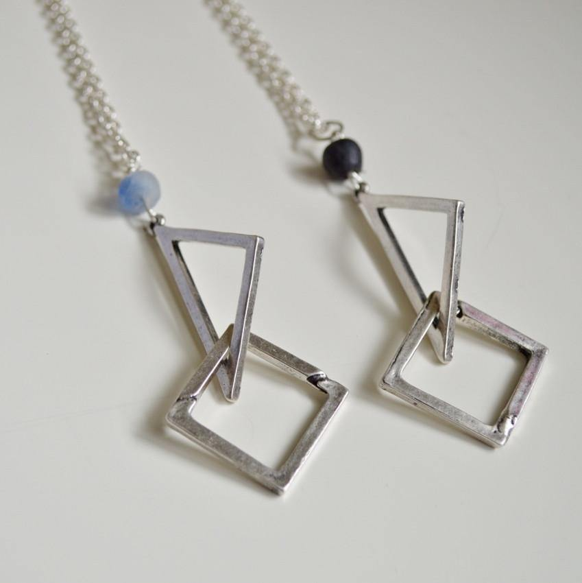 Dare to Be Your Own Person Silver Geometric Necklace - Alora Boutique  - 1