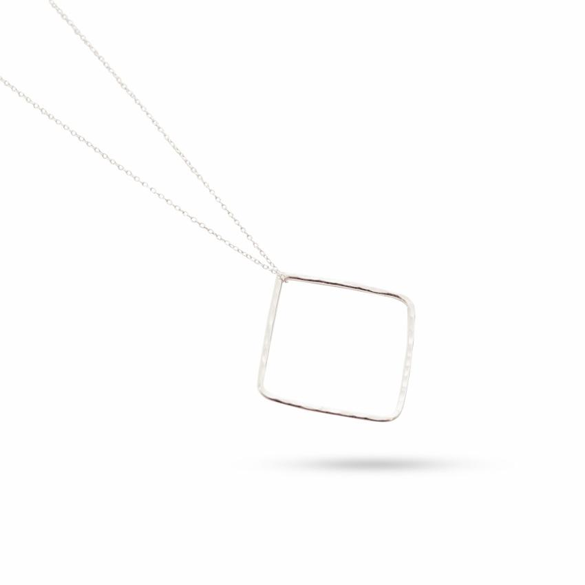 Empower Necklace | Square | Sterling Silver or Brass