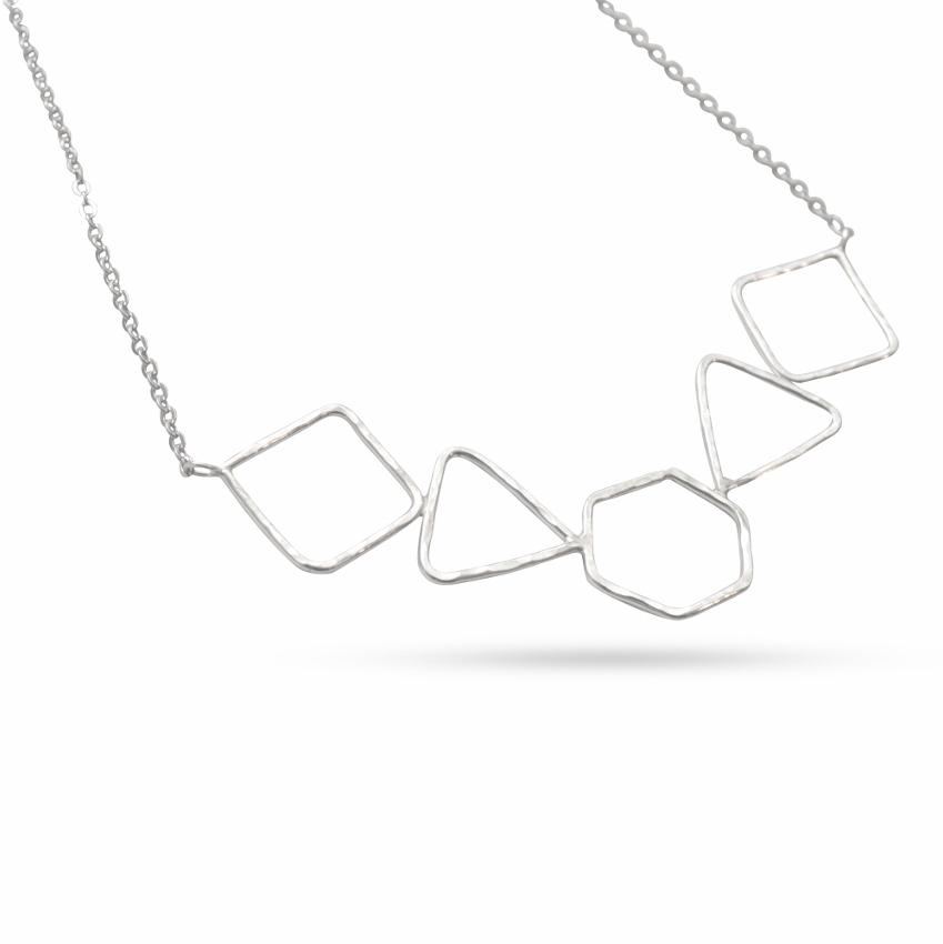 Empower Geometric Statement Necklace | Sterling Silver or Brass