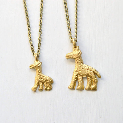 Elegance & Gracefulness  | Giraffe Pendant Necklace | Recycled Brass - Alora Boutique