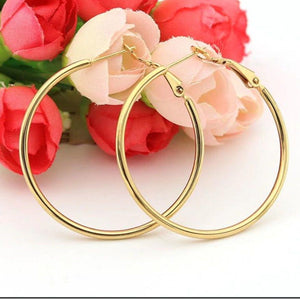 Allison Hoop Earrings - 3+ Colors to Choose From Earrings Alora Boutique Gold
