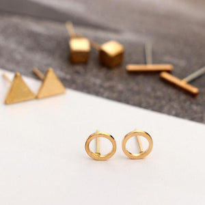 Lia - Minimalist Stud Earring Set Earrings Alora Boutique Gold