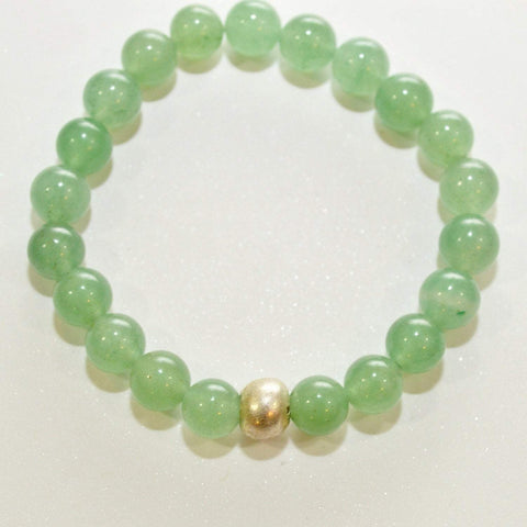 Calm, Rationality, Self-discipline | Beaded Gemstone Bracelet | Green Aventurine Gemstone