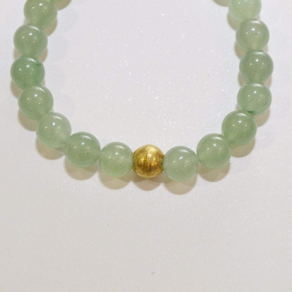 Calm, Rationality, Self-discipline | Beaded Gemstone Bracelet | Green Aventurine Gemstone - Alora Boutique