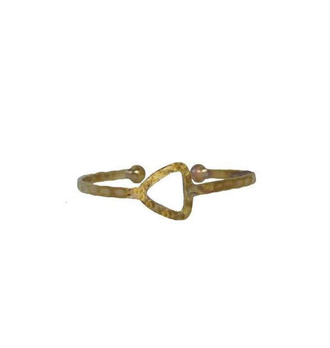 Empower Bangle | Triangle | Sterling Silver or Brass - Alora Boutique - Jewelry with meaning that gives back fashion for good