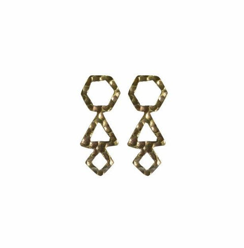 Empower Geometric Statement Earrings | Sterling Silver or Brass - Alora Boutique - Jewelry with meaning that gives back fashion for good