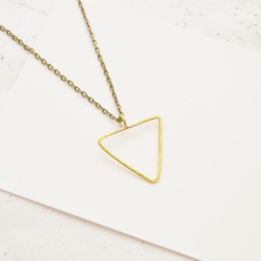 Empower Necklace | Triangle | Sterling Silver or Brass - Alora Boutique - Jewelry with meaning that gives back fashion for good