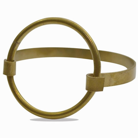 Circle of Life | Open Sphere Statement Bracelet | Raw Brass