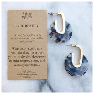 Valencia - True Beauty Resin Earrings - Black - Alora Boutique