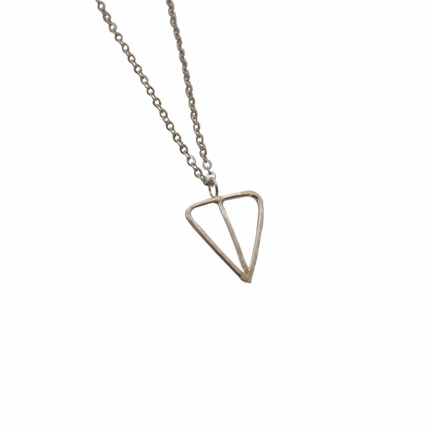 Empower Necklace | Custom Geometric Triangle | Sterling Silver or Brass