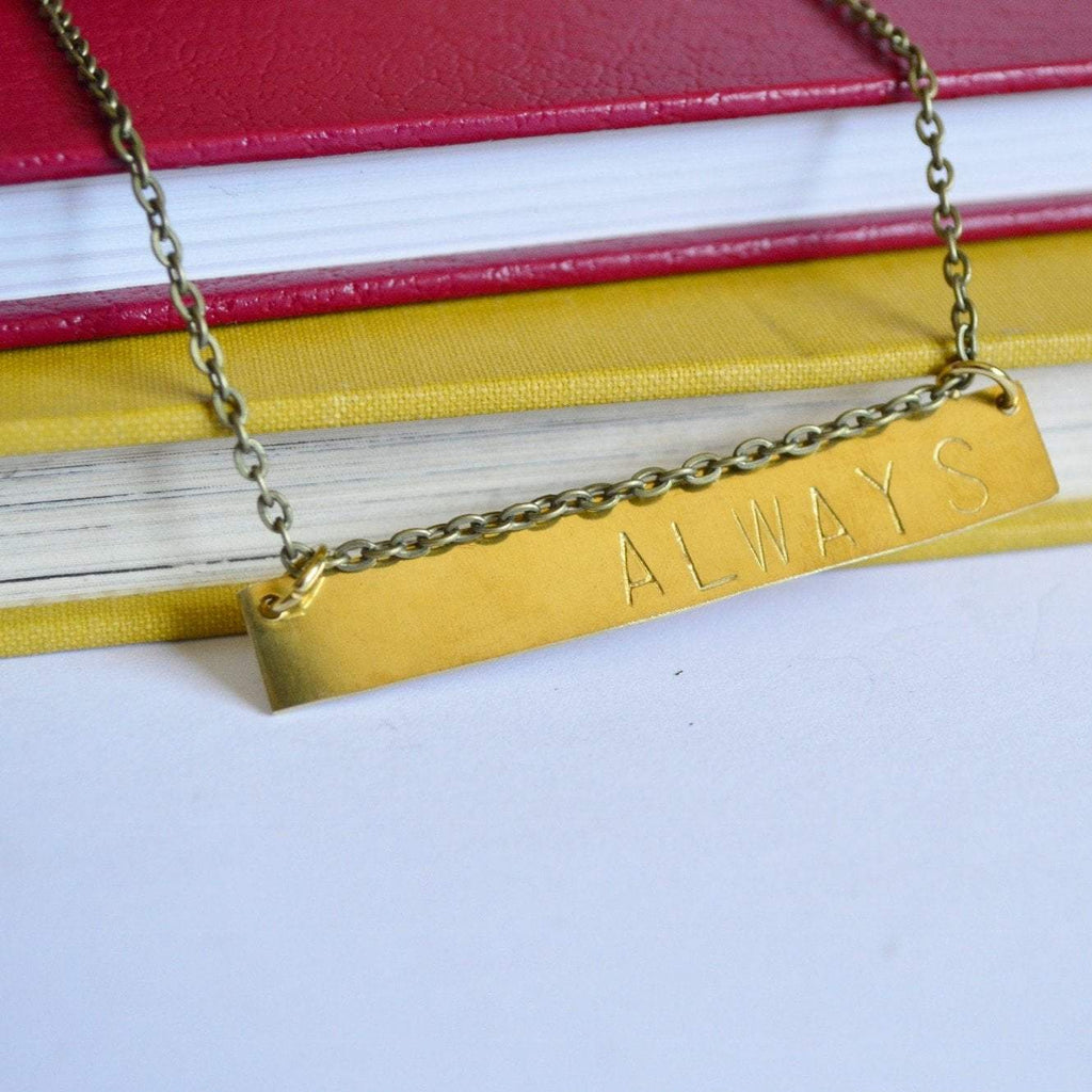 """Always"" Horizontal Bar Necklace 