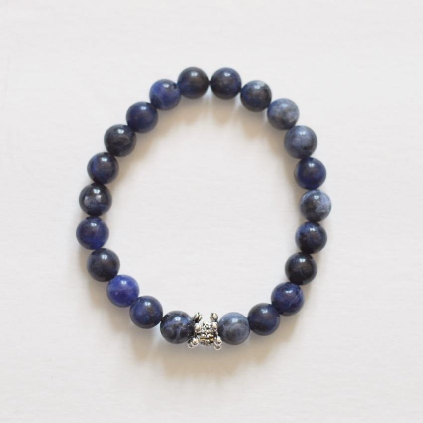 Sodalite - Healing Gemstone Stretch Bracelet - Alora Boutique  - 1