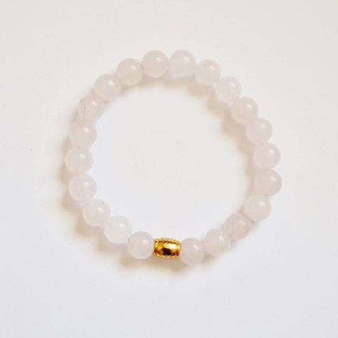 Unconditional love, Self-love, and Kindness | Beaded Stretch Bracelet | Rose Quartz Gemstone - Alora Boutique