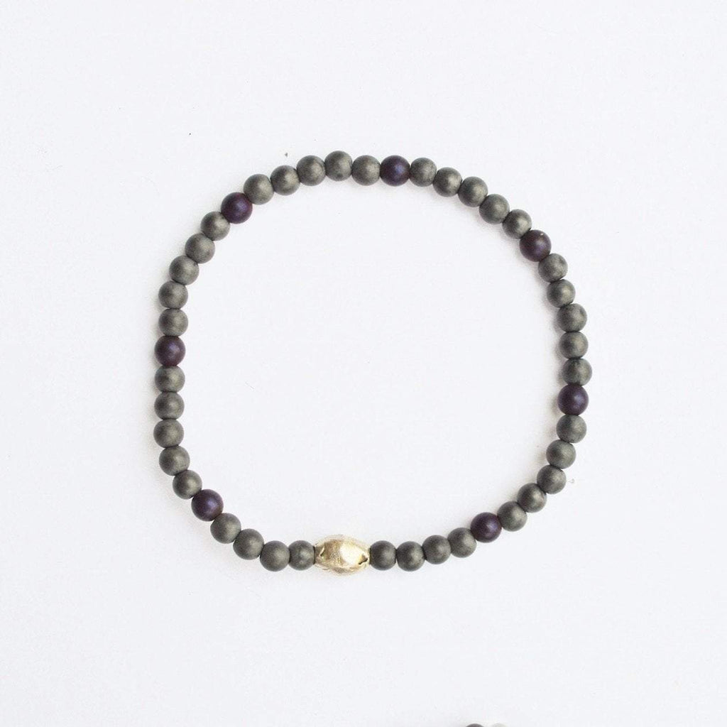 Stability, Grounding, Protection - Delicate Grey Hematite Gemstone Bracelet