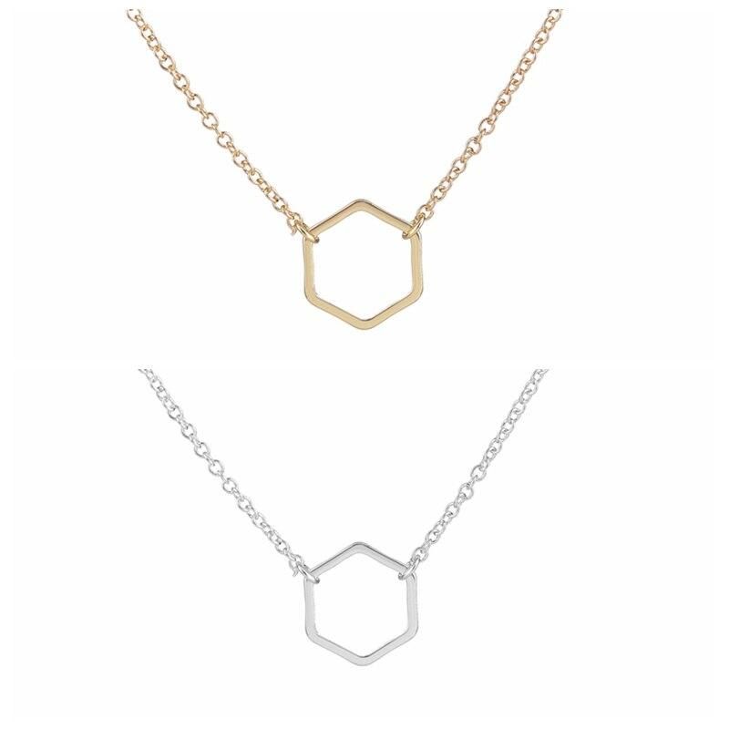 Dainty Hexagon Necklace - Jewelry Gifts Necklace Alora Boutique