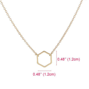 Dainty Hexagon Necklace Gifts - Alora Boutique