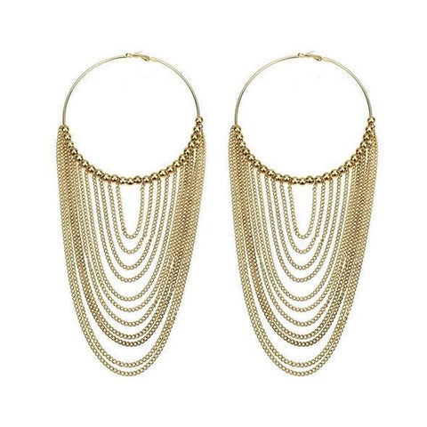 Chailyn Statement Hoop Earrings - Alora Boutique - Jewelry with meaning that gives back fashion for good