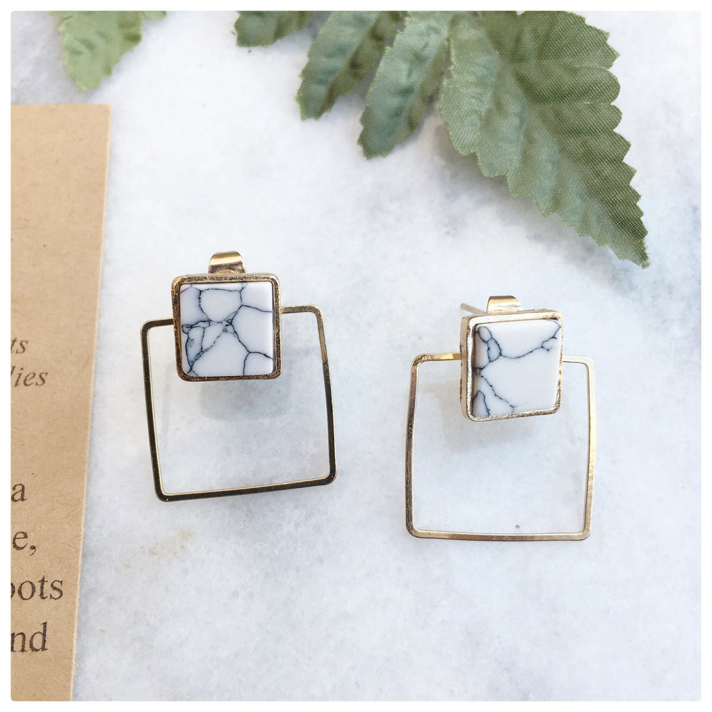 Melissa - Minimalist Square Geometric Earrings