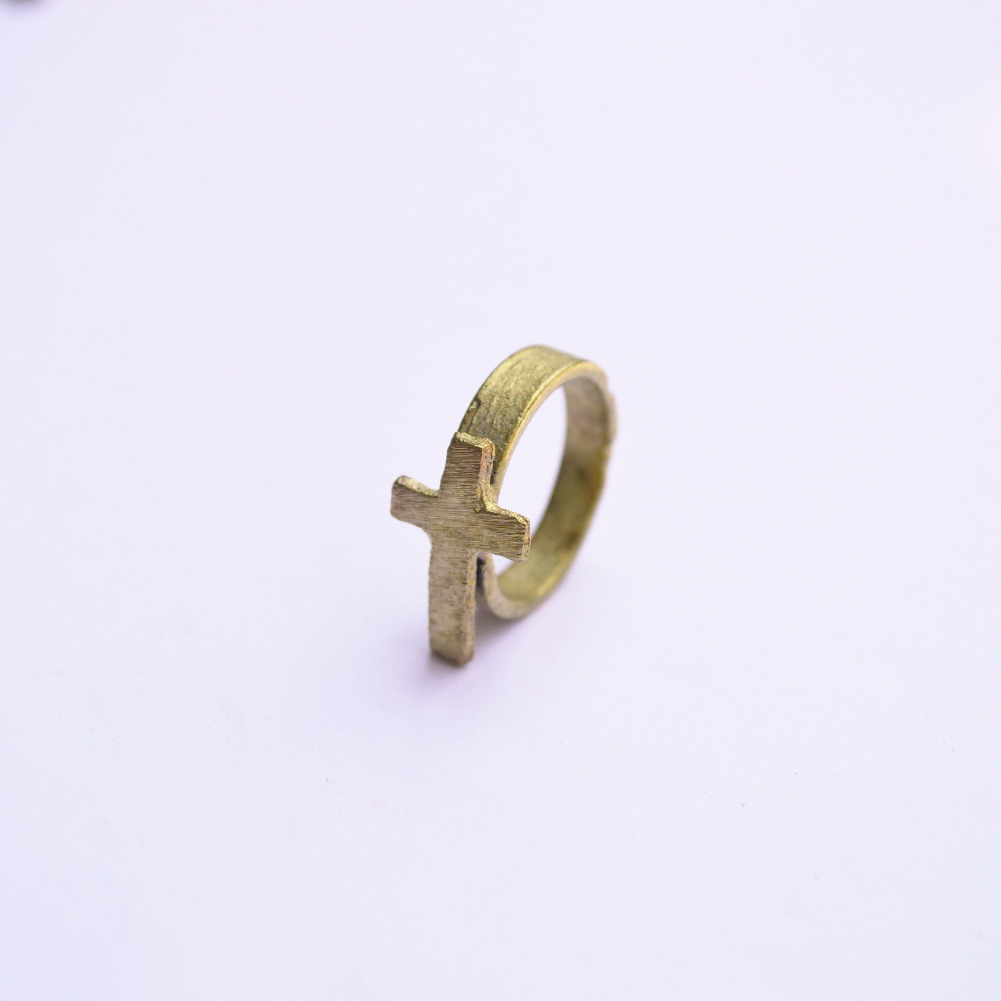 The Journey | Cross Ring | Recycled Brass Rings Alora Boutique