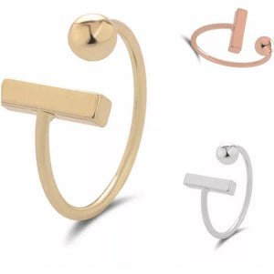 Chailyn Circle-Bar Ring - Adjustable Rings Alora Boutique