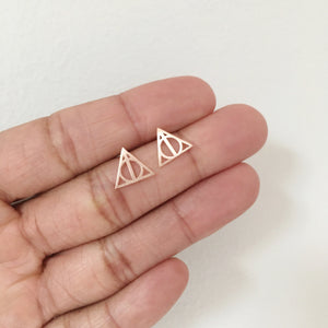 """Deathly Hallows"" Stud Earrings"