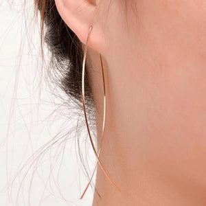 Pisces Simple Elegant Thread Earrings Earrings Alora Boutique