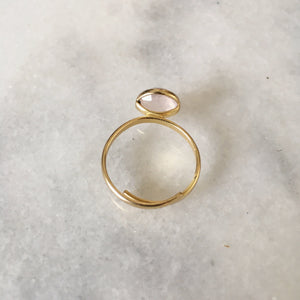 Rose Quartz Delicate Gemstone Ring - Alora Boutique